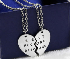 broken heart best bitches pendants for friendsJewelry
