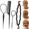 4Pc/Set Hair Twist Styling Clip Bun Maker Braid Tools Hair Accessories for Women Lady GirlsWomen