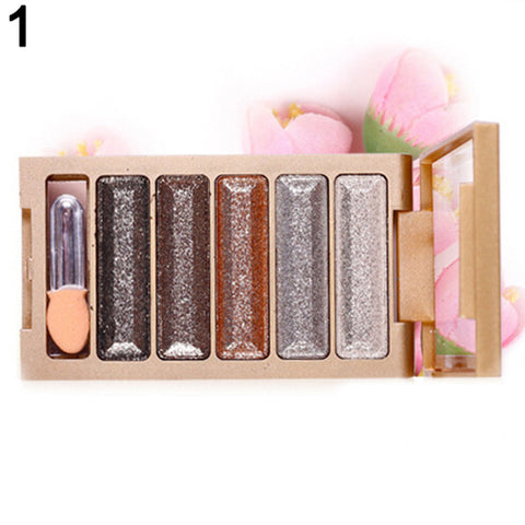 5 Colors Shining Natural Eye Shadow Palette Cosmetic Makeup Beauty Tool Gift