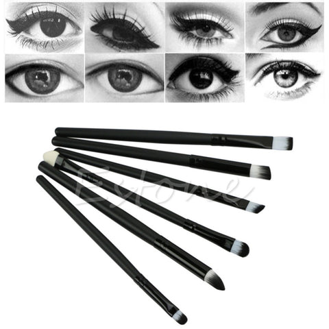 6 Pcs Chic Makeup Brushes Cosmetics Set Eyeshadow Eyeliner Nose Smudge Tools KitCosmetics