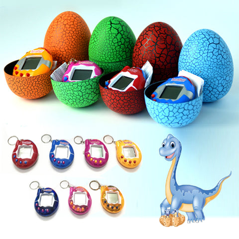 Colorful Egg Shape Virtual Cyber Digital Pets Electronic Digital E-pet Retro Funny Toy Handheld Game Pet Machine for Kid GiftsKids