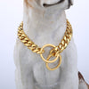 Davieslee Dog Chain Collar Gold Silver Tone 316L Stainless Steel Cut Curb Link Customize Size Wholesale Jewelry 11/13mm LDC05