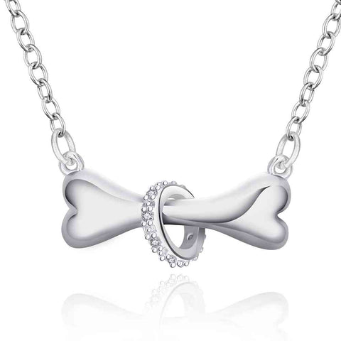 Hot Paw silver necklace dog  Pendant wish bone necklaceJewelry