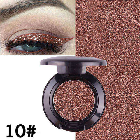 Fashion Eyeshadow Professional Eye Makeup Pressed Glitters Single Diamond Rainbow Shimmer Eyeshadow Cosmetic