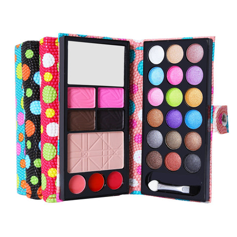 Hot Sale Eyeshadow Palette Set Make Up 18colors Eyeshadow + Lip Brushs +Blush+Eyebrow Powder Lip ColdMakeup Kit Cosmetics Women