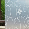 Hot Sweet 45x100cm Frosted Glass Window Door Flower Sticker Film Bathroom home Decor