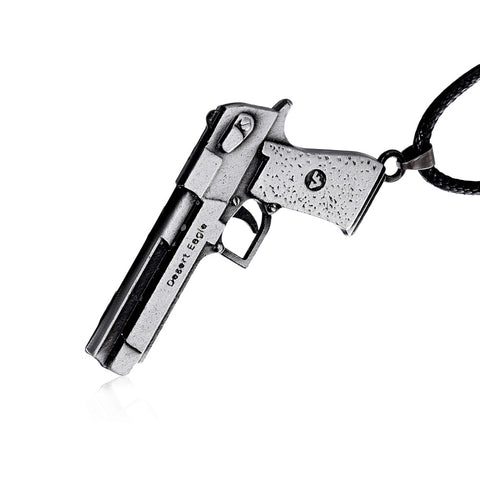 Collectible Desert Eagle Hand Gun Pendant NecklaceJewelry