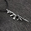 Collectible Rifle Pendant Punk Necklace, MensJewelry
