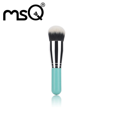 MSQ Foundation Brush Chubby Pier Portable BB Cream Round Powder Makeup Brush Professional Beauty Tools