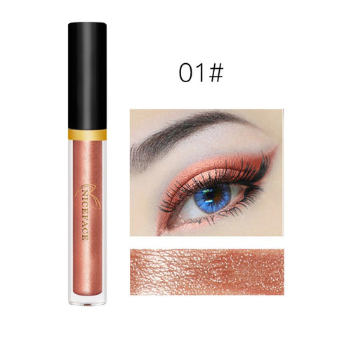 Matte Long-lasting Pearl Eye Shadow Liquid Cosmetic Make up Pressed Glitters Shiny Silkworms Liquid Diamond For Eyes Makeup L14