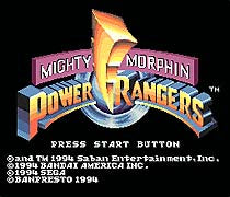 Mighty Morphin Power Rangers 16 Bit Mega Drive Game Card For Sega Genesis NTSC SystemElectronics