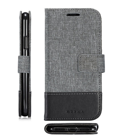 New in Stock For Samsung galaxy Note 8 Case Leather Flip Retro Denim Cover Built-in Card Slot With Stent Mobile Phone Bag
