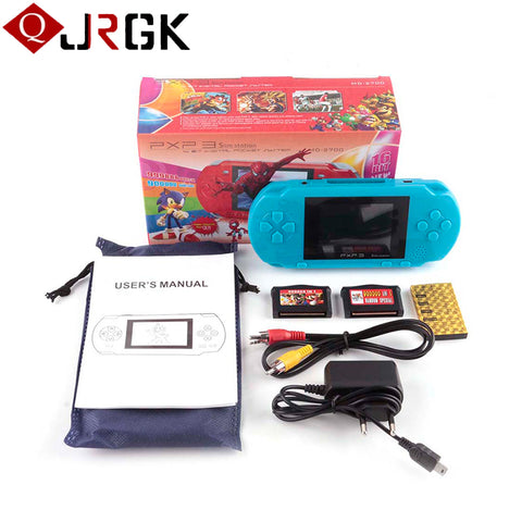 Portable 16 Bit PXP3 Handheld Game Player Video Game Console with AV Cable+2 Game Cards Classic Child Games PXP 3 Slim StationElectronics