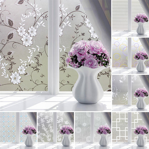 Waterproof PVC Frosted Glass Window Privacy Film Sticker Bedroom Bathroom Self Adhesive Film Home Decoarative Film MayitrHome