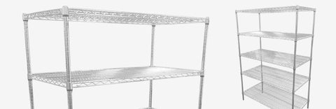 BOS Chrome Wire Shelving