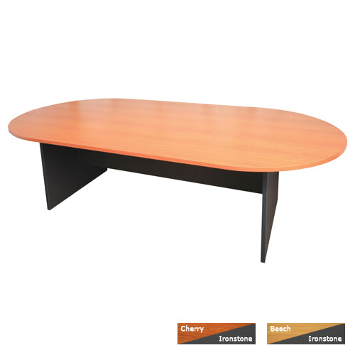 Boardroom Table - Oval - Beech or Cherry/ Ironstone