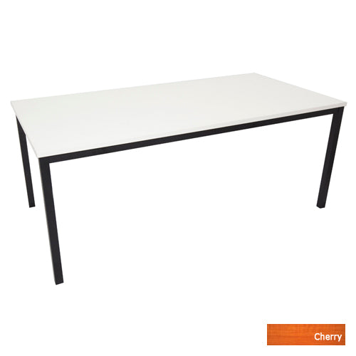 Steel Frame Table  - Black with Laminate top - Cherry