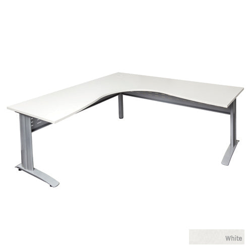 Desk Mate with SPAN LEG - Silver legs White Top  (Rapid Span)