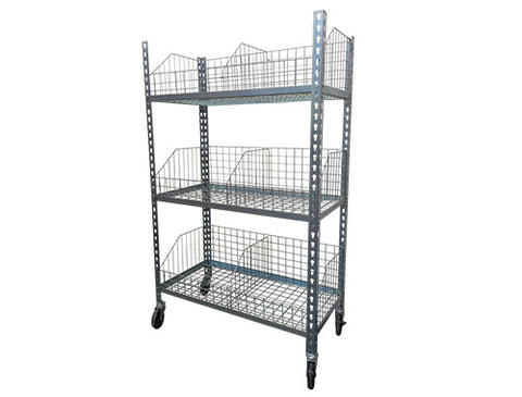 Mobile 3 tier rivet trolley