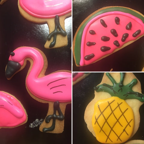 Tropical Miami themed biscuits