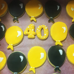 40th Birthday Biscuits
