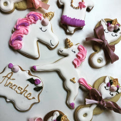 Unicorn First Birthday Biscuits