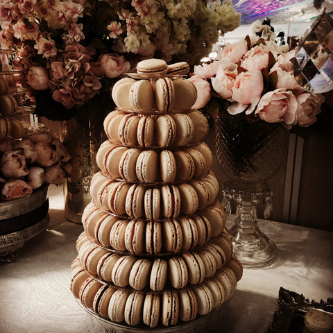 Chanel Inspired Wedding Macarons