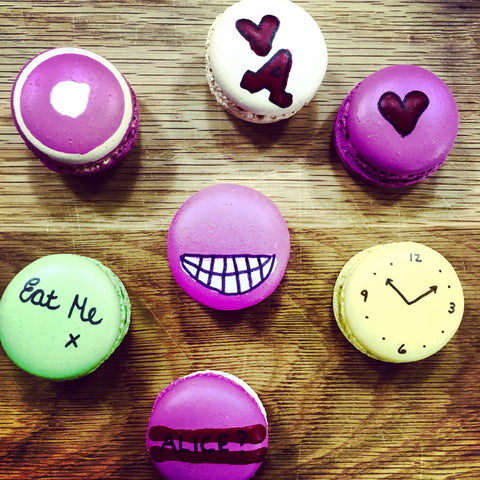 Alice In Wonderland Themed Macarons