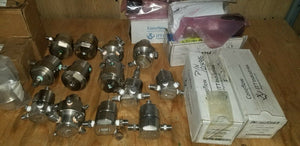 Lot of 23 Tescom & ITT Conoflow SS Body Pressure Regulators New & Used Surplus