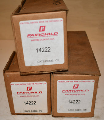 Lot of 3 Fairchild Pressure Regulator 14222