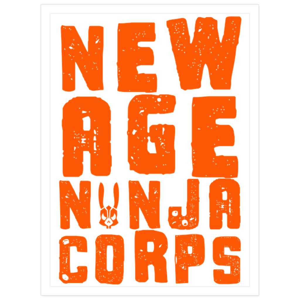 New Age Orange Sticker