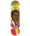 Nelson Mandela Icon complete skateboard with trucks and wheels