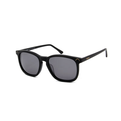 Hendaye Matte Black - Angle View - Grey lens - Mawu Sunglasses