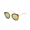Julie Dark Tortoise - Angle View - Gold Mirror lens - Mawu Sunglasses