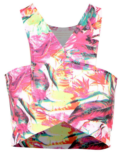 Cross-Over Crop Top Pink