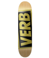 Verb Skate Deck - Gold 8.0 | XiiSkate.co.za