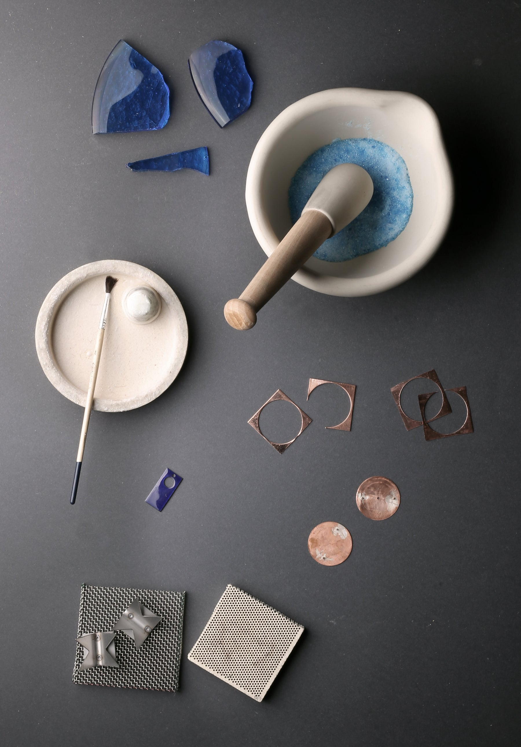 Some of the tools from our enamel studio