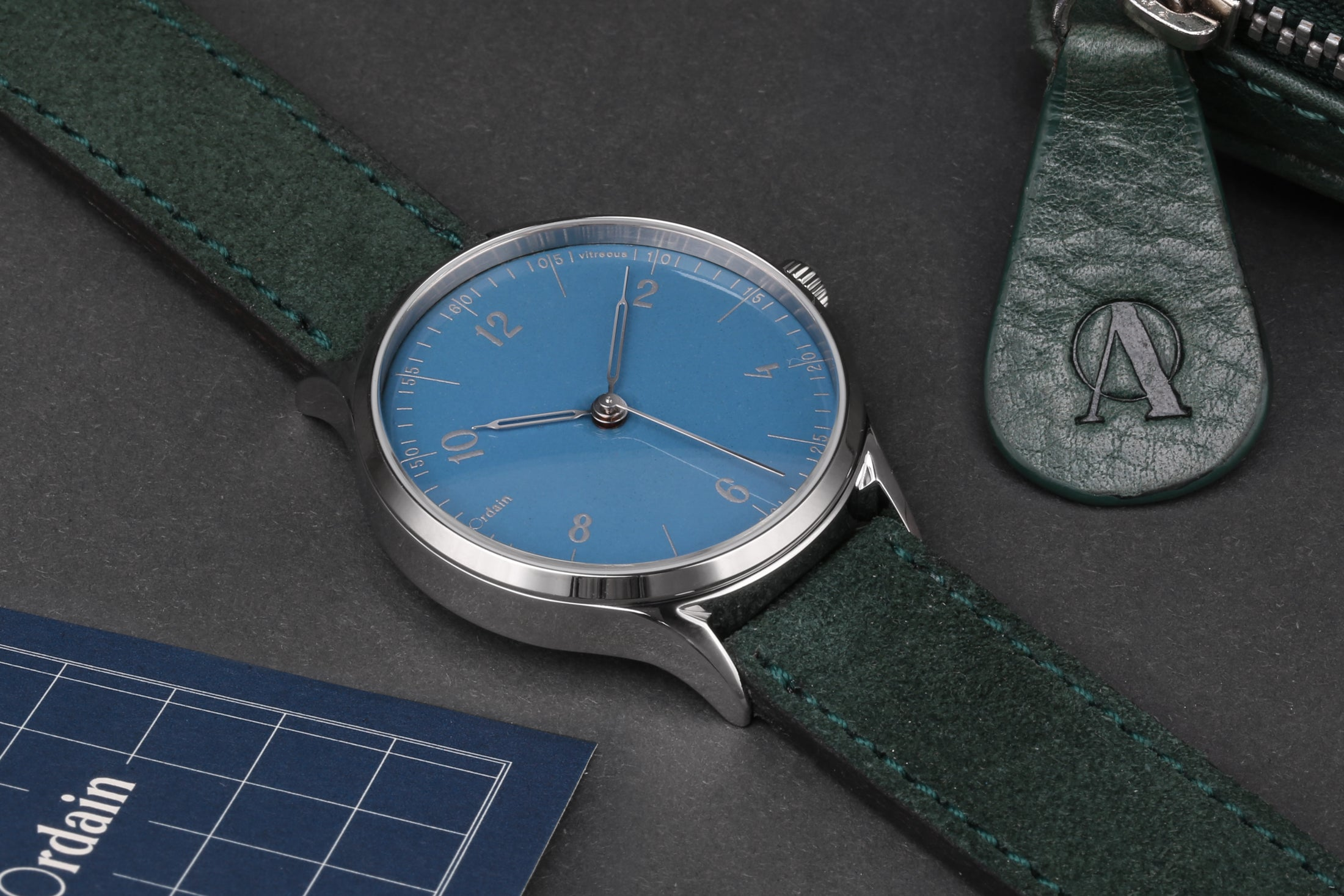 anOrdain Model 1 with Hebridean Blue dial