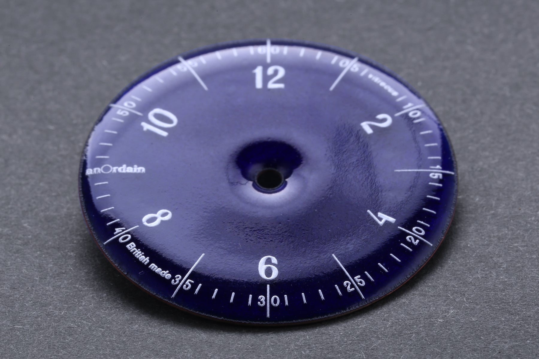 anOrdain translucent blue dial