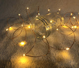 Pack of 3 Sets Waterproof Fairy Copper String Lights Battery Operated for Bedroom Indoor Outdoor Warm White 60 LEDs 20F Timer Copper Wire Lights for Patio Halloween Thanksgiving Christmas Party Wedding Decor