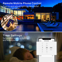 Load image into Gallery viewer, LED Controller WiFi Smart RGB Controller, Compatible with Alexa Google Home, Work with Phone, for LED Strip Light, Comes with 24 Keys Remote