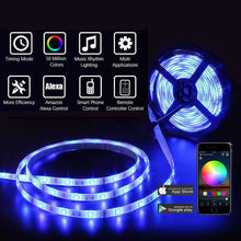 Load image into Gallery viewer, WIFI Smart Waterproof LED Strip Light Smart Phone Controlled ,Works with Android and iOS,IFTTT,Google Assistant and Alexa,16.4ft RGB Color Changing for Bedroom, Party and Home Decoration【FREE SHIPPING】