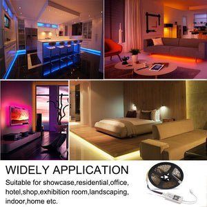LED Controller WiFi Smart RGB Controller, Compatible with Alexa Google Home, Work with Phone, for LED Strip Light, Comes with 24 Keys Remote