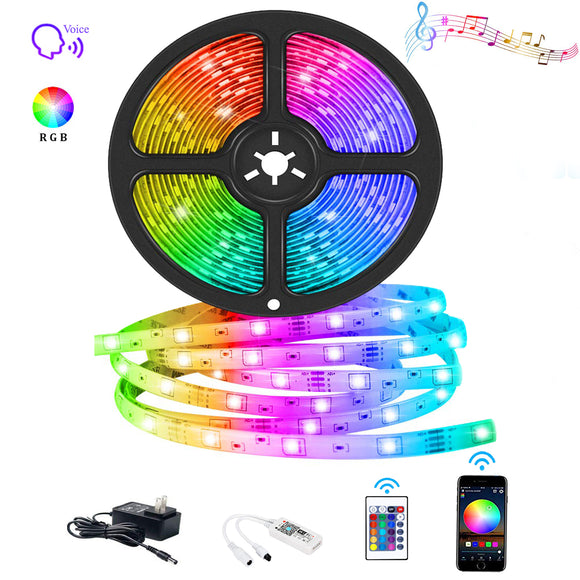 WIFI Smart Waterproof LED Strip Light Smart Phone Controlled ,Works with Android and iOS,IFTTT,Google Assistant and Alexa,16.4ft RGB Color Changing for Bedroom, Party and Home Decoration, FREE SHIPPING