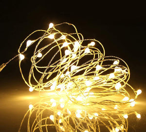 Pack of 6 pcs LED Silver Wire Fairy String Lights with 20 Micro LEDs on 7.6 feet Silver Coated Copper Wire, 2 x CR2032 Battery Power(Included), for DIY Wedding Centerpiece or Table Decorations
