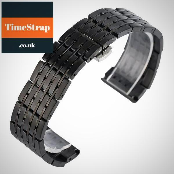 Bracelet A-2L 20/22/24mm (PVD or GOLD) TimeStrap Black / 20mm