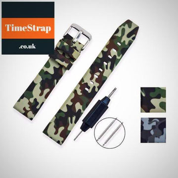 Diver Strap Camouflage 20/22/24 (3 patterns) TimeStrap Army Blue / 20mm