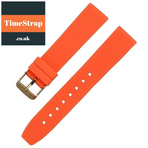 Diver Strap Slimer 16/18/20/22/24/26/28mm (70 variations) TimeStrap Orange Gold Buckle / 16mm