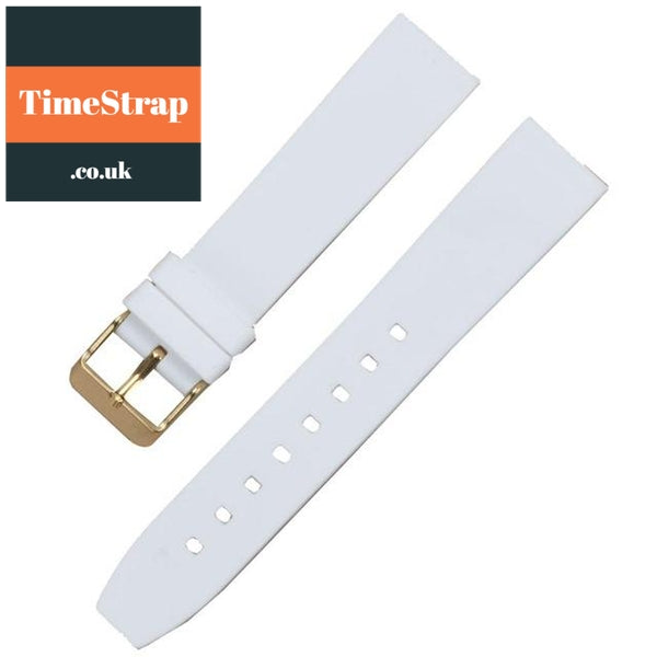 Diver Strap Slimer 16/18/20/22/24/26/28mm (70 variations) TimeStrap White Gold Buckle / 16mm