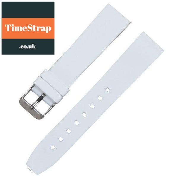 Diver Strap Slimer 16/18/20/22/24/26/28mm (70 variations) TimeStrap White Silver Buckle / 16mm